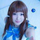 Nagi no Asukara Mukaido Manaka 80cm long brown straight anime cosplay wig