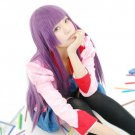 Senjougahara Hitagi long 80cm mix purple straight anime cosplay wig
