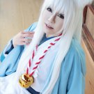 Gugure! Kokkuri-san long pure white 100cm straight anime cosplay wig
