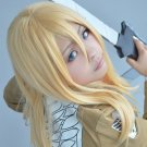 Attack on Titan Christa Lenz 60cm long blonde straight anime cosplay wig