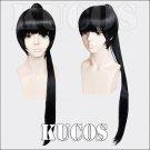 PSYCHO-PASS Kunizuka Yayoi 80cm black anime cosplay wig