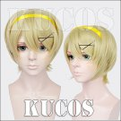 APH Axis powers Ukraine short Green Gold anime cosplay wig not include  hair band