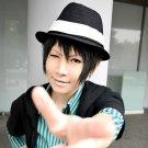 DuRaRaRa!! Rokujyo chikage short black anime cosplay wig + wig cap