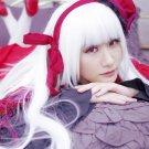 K Kushina Anna pure white long 100cm anime cosplay wig