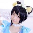 Love live!Yazawa Niko black Bun Updo anime cosplay wig