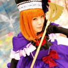 Umineko no Nakukoroni Ushiromiya Eva short orange BOBO anime cosplay wig
