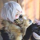Furari no ken Nakigitsune short silver white anime cosplay wig