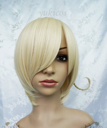 Axis powers hetalia APH Norway short light blonde anime cosplay full wig