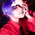Tokyo Ghoul Shuu Tsukiyama short purple cosplay wig