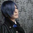 Gekka Ryouran Romance Yamato Suou short blue gray cosplay wig