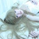 Blast of Tempest Aika Fuwa tea brown 100cm long straight cosplay wig