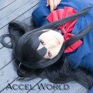 Accel World Kuroyuki hime long black 60cm cosplay wig
