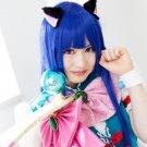 Higurashi no Naku Koro ni Furude Rika long straight 100cm blue cosplay wig