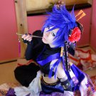 VOCALOID KAITO short blue wig + one blue Hair piece cosplay wig