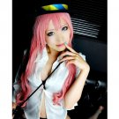 Vocaloid LUKA long 110cm curly pink cosplay wig