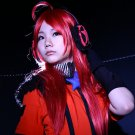 VOCALOID miki long 80cm red straight cosplay wig
