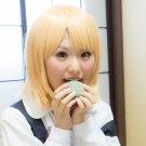Tamako Market Tokiwa Midori short gold blonde cosplay wig