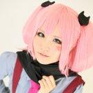 chuunibyou demo koi ga shitai Shichimiya Satone pink long 120cm 2 clip ponytails cosplay wig