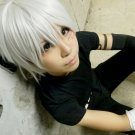 D.Gray-man Allen Walker short silver white cosplay wig