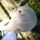 SAMURAI DEEPER KYO SARUTOBI SASUKE short silver white cosplay wig