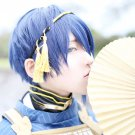 Furari no ken MikazukiMunetika short dark blue mix cosplay wig