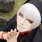 Hozuki no Reitetsu black Hakutaku short silver white cosplay wig