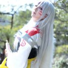Inuyasha Sesshoumaru long straight silver white 100cm cosplay wig