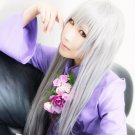 Sohma Ayame long straight silver white 100cm cosplay wig