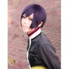 Hiiro no Kakera Shinji Inukai short black purple mix anime cosplay wig