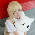 Code Breaker short light beige anime cosplay wig