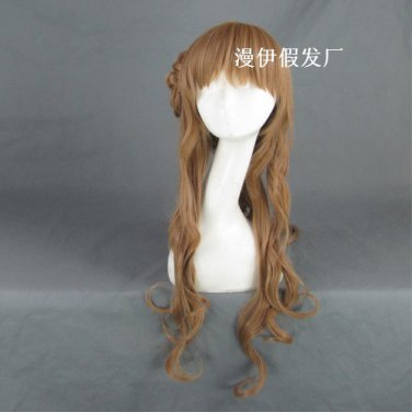 Kimi ni Todoke kurumizawa ume long curly 80cm brown anime cosplay wig