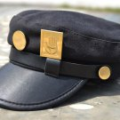 JOJO'S BIZARRE ADVENTURE Kujou Jotarou anime cosplay cap sunhat hat + badge