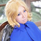 Axis powers APH French Francis Bonnefeuille short gold curly anime cosplay wig