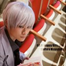 Kuroko No Basketball Mayuzumi Chihiro short silver white anime cosplay wig