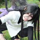 NARUTO Orochimaru 80cm black straight long anime cosplay wig