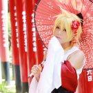 VOCALOID Kagamine Len short gold wig cosplay wig