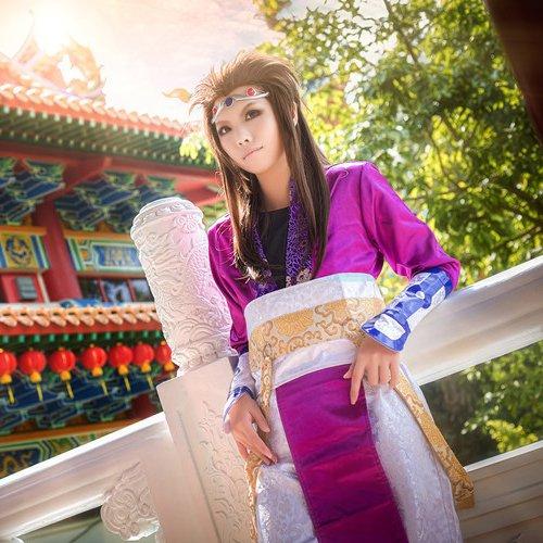 The Legend of Qin Xiang Shaoyu 70cm brown cosplay wig