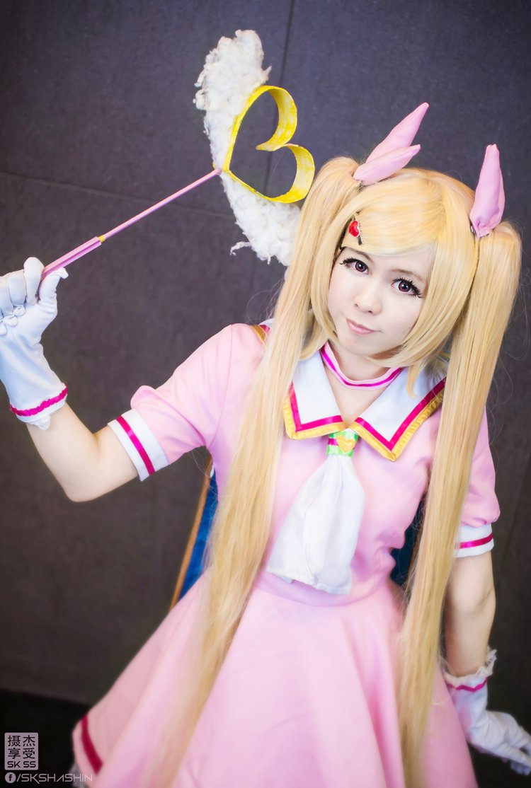 Love Stage!! Lala-Lulu long blonde two long 120cm ponytails cosplay wig
