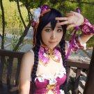 Love Live! Nozomi Tojo 100cm purple gray braid anime cosplay wig