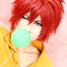 Prince of Tennis Bunta Marui short wine red anime cosplay party full wig