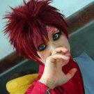 NARUTO Sabaku no Gaara short wine red anime cosplay wig