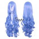 Himouto! Umaru-chan Tachibana Sylphynford 80cm long curly blue anime cosplay wig