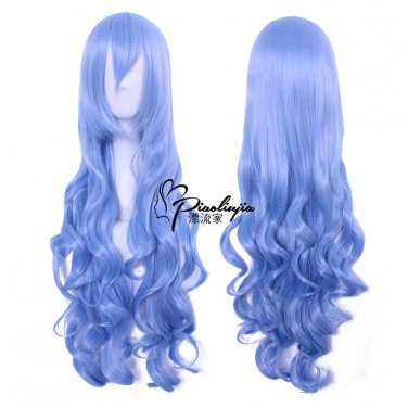 Himouto! Umaru-chan Tachibana Sylphynford 80cm long curly blue anime cosplay wig
