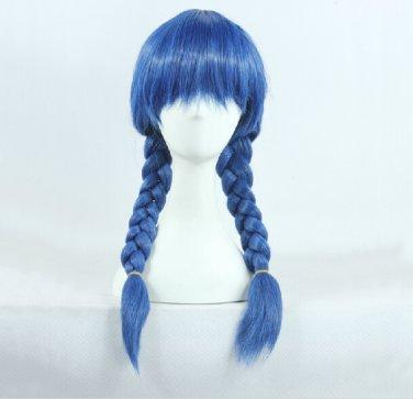 Shokugeki no Soma Megumi Tadokoro dark blue braid 70cm anime cosplay wig