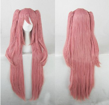 Seraph of the end Krul Tepes dark pink 100cm long wig +two 55cm little ponytails anime cosplay wig