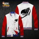 FAIRY TAIL Natsu Gray Anime Cosplay Baseball uniform coat hoodie