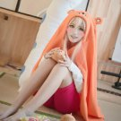 Himouto! Umaru-chan Doma Umaru orange 140cm anime cosplay marmot cape blanket clothing cloak costume
