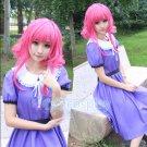 SCHOOL-LIVE! Sakura Megumi purple anime cosplay costume dress skirt