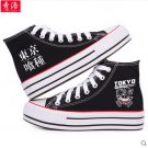 Tokyo Ghoul Kirishima Touka Ken Kaneki anime cosplay shoes canvas shoes cosplay pantshoes black B