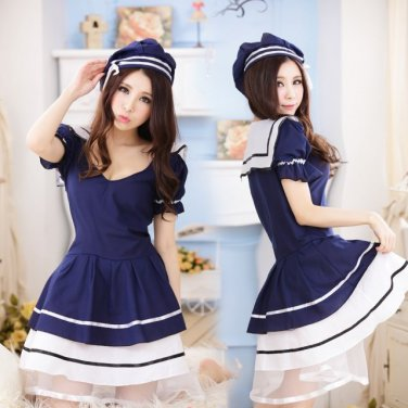 Japanese Lolita dress anime cosplay maid outfits Apron maid uniform sailor suit